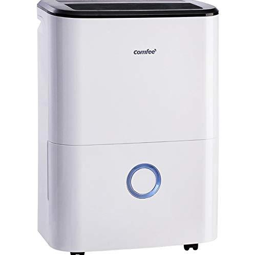 Comfee Luftentfeuchter (170ca. m3/h Luftleistung, 20L in 24h, Raumgröße ca. 100m³), weiß, MDDF-20DEN3