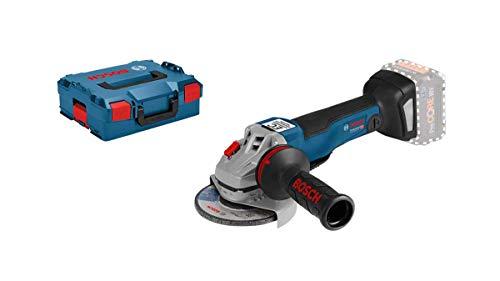 Bosch Professional 18V System Akku Winkelschleifer GWS 18V-10 PC (inkl. Aufnahmeflansch, Schutzhaube, Zusatzhandgriff, L-BOXX-Einlage, L-BOXX)