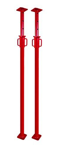 GBM Baustütze 1,6m bis 2,9m | Universalstütze 8kg | Montagestütze mit unverlierbarem Sicherheitshaken | bis 1.600kg Traglast (2 Stück)