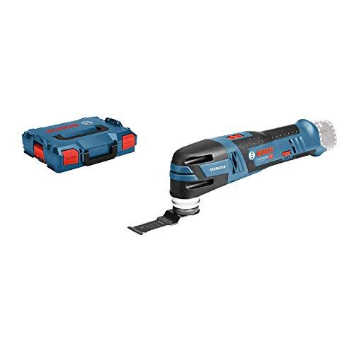 Bosch Professional 12V System Akku Multi-Cutter GOP 12V-28 (Starlock-Werkzeugaufnahme, Leerlaufschwingzahl: 5000–20000 min-1, ohne Akkus und Ladegerät, in L-BOXX 136)