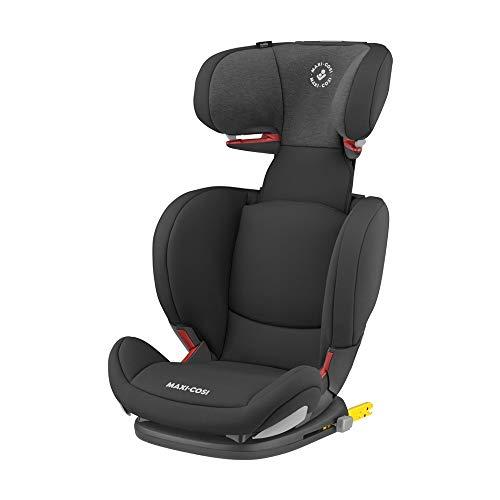 Maxi-Cosi RodiFix AirProtect (AP) Kindersitz, Mitwachsender Gruppe 2/3 Autositz (ca. 15-36 kg) mit ISOFIX und Optimalem Seitenaufprallschutz, Nutzbar ab ca. 3,5 - 12 Jahre, Authentic Black (schwarz)