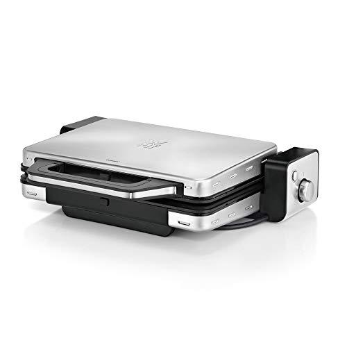 WMF Lono Kontaktgrill 2-in-1, Tischgrill, spülmaschinenfeste Grillplatten, 2100 W
