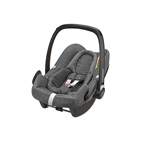 Maxi-Cosi Rock Babyschale, sicherer I-Size Babyautositz, Gruppe 0+ (0-13 kg), nutzbar ab der Geburt bis 12 Monate, Babysitz Auto, sparkling grey, grau