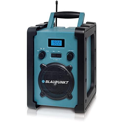 Blaupunkt BSR 20 Baustellenradio mit Akku – Tragbares Radio mit Bluetooth robust (AUX-IN, 5 Watt RMS, Schutzklasse IPX5)