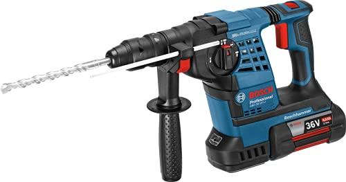 Bosch Professional 36V Akku Bohrhammer GBH 36 VF-LI Plus (inkl. 2x 36V GBA 4.0Ah Akku, Wechselfutter SDS plus, Tiefenanschlag 310 mm, Schnellwechselbohrfutter 13 mm, Zusatzhandgriff, L-BOXX 238)