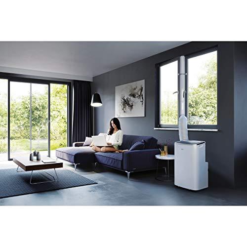AEG Chillflex Pro Silence AXP26U558HW mobiles Klimagerät / LED Display / Touch-Buttons / Fernbedienung / 30-40 m² / Kühlen / Heizen / Ventilator / Entfeuchten / Automatik-Funktion / weiß, schwarz