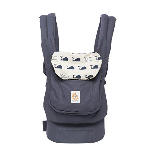 Ergobaby Babytrage Original Marine, 3-Positionen Ergonomische Babytragetasche Kindertrage, Baby Tragesystem von 5.5 bis 20 kg