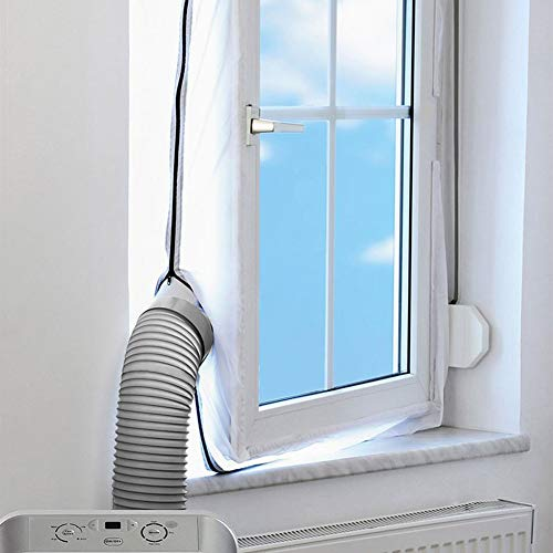 400CM Universal Fensterdichtung für tragbare Klimaanlage Fensterdichtung Reißverschluss Klettverschluss