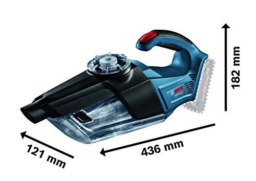 Bosch Professional 18V System Akku Trockensauger GAS 18V-1 (ohne Akkus und Ladegerät, mit Absaugrohr, Fugendüse, Teppichdüse, Behältervolumen 1 Liter, im Karton)
