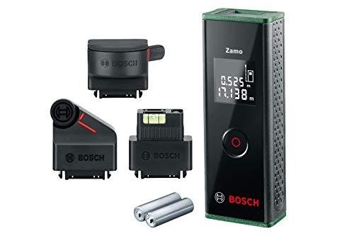 Bosch Laser Entfernungsmesser Zamo Set mit drei Adaptern (3. Generation, Messbereich: 0,15 – 20,00 m, Karton) - Amazon Edition