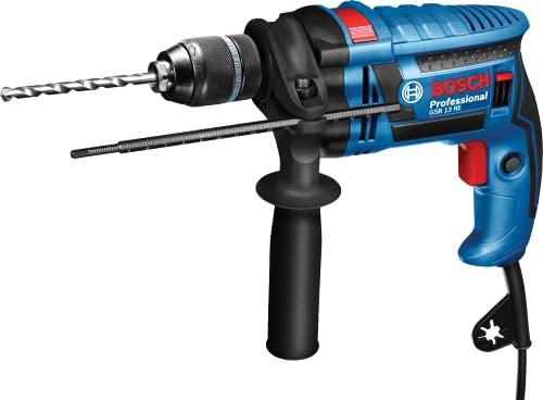 Bosch Professional Schlagbohrmaschine GSB 13 RE (600 Watt, inkl. Tiefenanschlag 210 mm, Schnellspannbohrfutter 13 mm, im Karton)