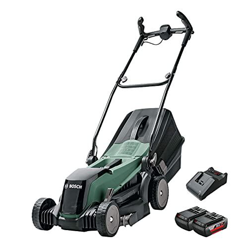 Bosch Akku Rasenmäher EasyRotak 36-550 (36 V, 2x Akku 2,0 Ah, Schnittbreite: 37 cm, Rasenflächen bis 550 m2, im Karton)