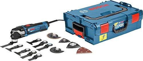 Bosch Professional 0601231001 Multi-Tool GOP 40-30 mit 16 tlg. Zubehör-Set, 400 Watt, Starlock, L-Boxx, W, 230 V