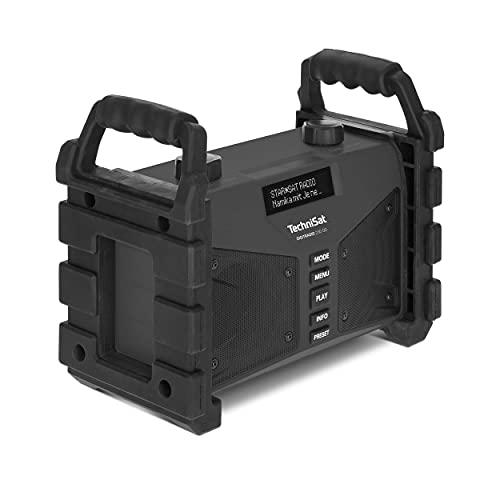 TechniSat DIGITRADIO 230 OD - DAB+ Baustellenradio (DAB+, DAB, UKW, USB, AUX in, Bluetooth, leistungsstarker Akku, Favoritenspeicher, 2 x 6 Watt Stereo-Lautsprecher) schwarz