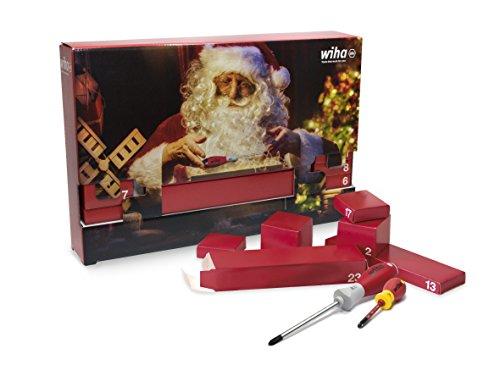 Wiha Werkzeug Adventskalender (24 teilig, Weihnachtskalender für Männer / Handwerker, mit Handwerkzeug) 9300917L