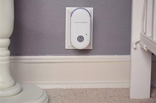 Motorola MBP 8 Babyphone, Digitales Wireless Babyfon, Mit Nachtlicht und DECT-Technologie, Zur Audio-Überwachung, Weiß