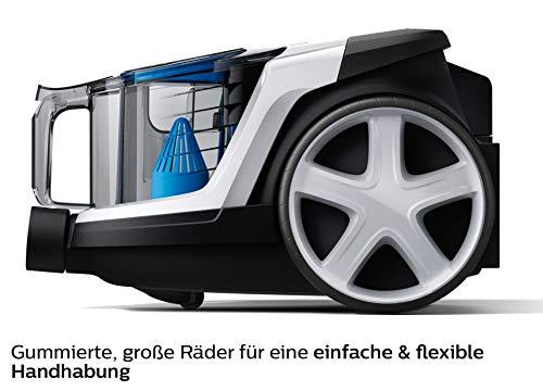 Philips beutelloser Staubsauger PowerPro Compact FC9332/09 (sehr niedriger Stromverbrauch bei hoher Leistung, 1,5 L Staubvolumen, integriertes Zubehör) weiß/schwarz