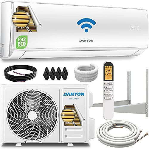 Danyon Premium Split-Klimaanlage Set - für 55 qm, 12000 BTU, 3,4 kW, Titangold, Smart Home, W-LAN, Alexa, Timer, leise, Kältemittel R32, bis 130m3, Klimaanlage Splitgerät, inkl. 5m Montagematerial