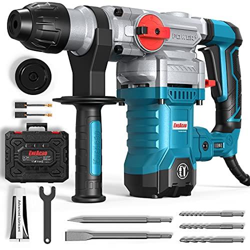 ENEACRO SDS-Plus Bohrhammer, 1500W 6Joule Abbruchhammer 6 Variable Geschwindigkeit 0-920U/Min mit 4 Funktionen, Anti-Vibrationsgriff und Sicherheitskupplung, 32 mm Bohrleistung in Beton