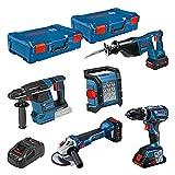Bosch Professional 0615990M2X 18V System Set 2X XL-BOXX, Blue