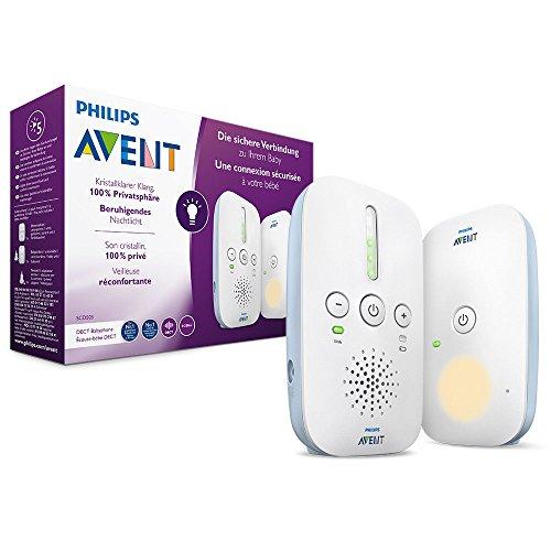 Philips Avent Audio-Babyphone SCD503/26, DECT-Technologie, Eco-Mode, 24 Std. Laufzeit, Nachtlicht
