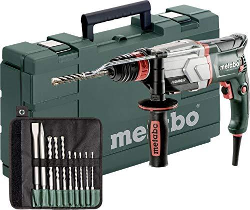 Metabo Multihammer UHE 2660-2 Quick Set Extrem robust für harten Dauereinsatz- inkl. SDS-plus-Bohrer-/Meißelsatz (10-tlg.)und Koffer 600697510