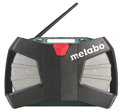Metabo Baustellenradio Powermaxx RC (ohne Akku, DSP-Tuner, mit AUX-Eingang, LCD-Display, Kunststoffgehäuse) 602113000