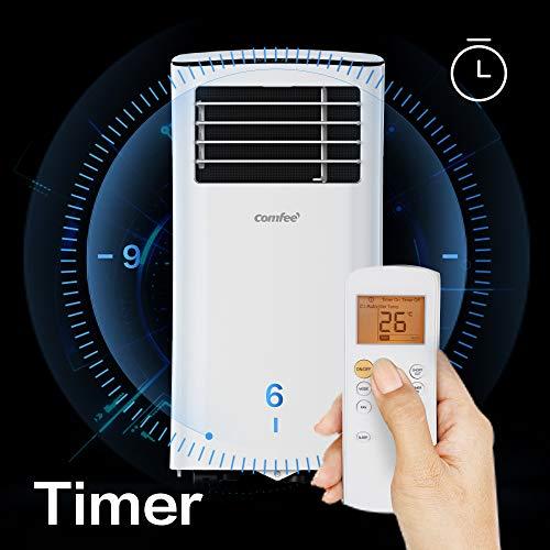 Comfee MPPH-09CRN7 Mobiles Klimagerät, 1280 W, 230 V, weiss, 35,5 x 34,5 x 70,3cm (BTH)