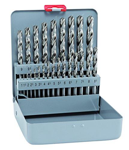 Bohrer / Spiralbohrer Set HSS Cobalt KM 25, 25-teilig   kobaltlegierte Spiralbohrer mit sehr hoher thermischer Belastbarkeit, selbstzentrierend, punktgenau, bruchsicher   Ø 1 -13 mm, je 0,5 mm stg.